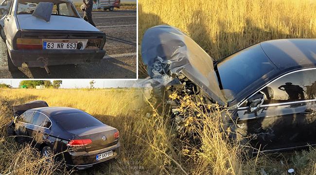 Akçakale yolunda trafik kazası