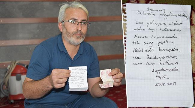 Camiye bıraktığı para 1 yıl sonra bulundu