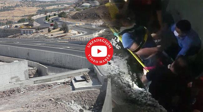 Çevik Kuvvet inşaat alanında kaza