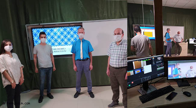 Erasmus toplantısı dijital ortamda yapıldı