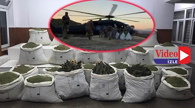Helikopter destekli esrar operasyonu