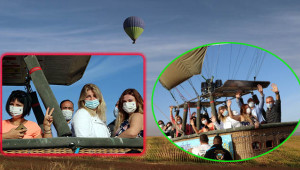 Ruslar Göbeklitepe'yi balonla gezdi