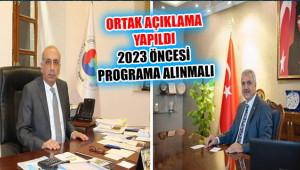 'Şanlıurfa ve Diyarbakır 2023 yılı öncesi yatırıma alınmalıdır'