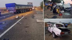 Suruç'ta feci kaza: 2 ölü, 1 yaralı