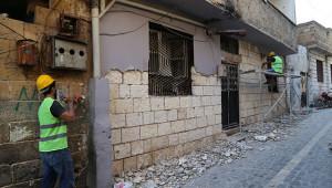 Tarihi sokaklarda restorasyon çalışması