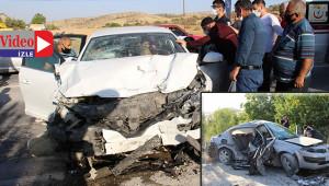 Trafik kazasında 2si ağır 4 yaralı