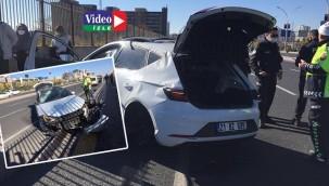 Araç, metrelerce takla attı: 2 yaralı