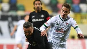 Bursaspor, deplasmanda puan kaybetti