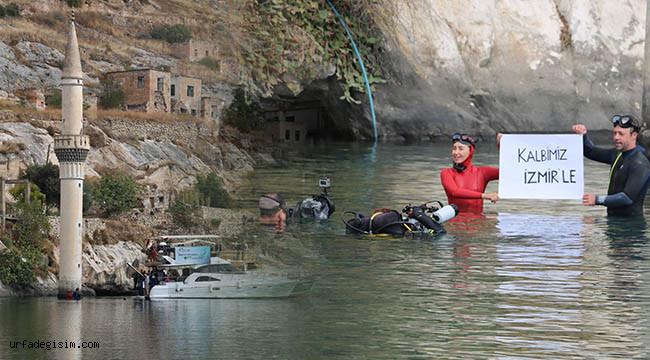 Dünya rekortmeni Halfeti'de dalış yaptı