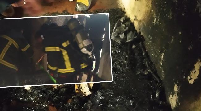 Haliliye'de mesken yangını