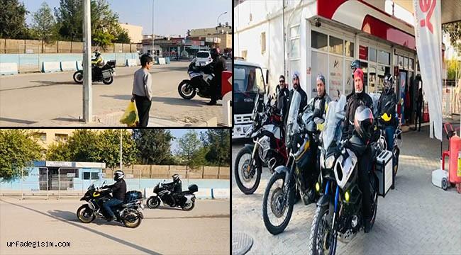 Motosiklet tutkunları Suriye sınırını gezdi
