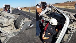 Otomobil devrildi 3 kişi yaralandı