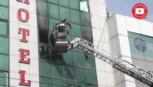 Urfa merkezde otel yangını
