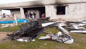 Evde çıkan yangında büyük çapta hasara neden oldu