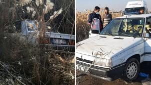 Otomobil tahliye kanalına düştü: 1 yaralı