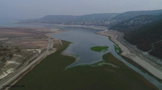 Porsuk Barajı'nda su seviyesi düştü