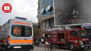 Yangın, iş merkezinde hasara neden oldu
