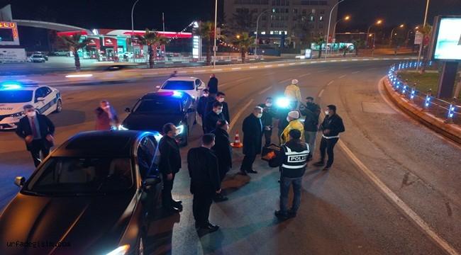 Başkan Beyazgül, yeni yıla görev başındaki polislerle beraber girdi