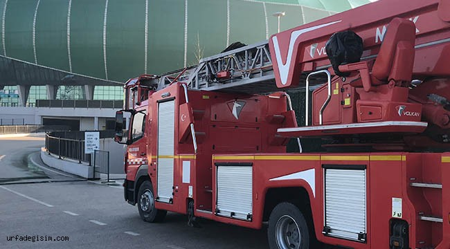 Maç öncesi korkutan yangın