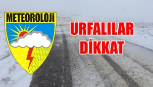 Meteoroloji'den Urfa için sarı uyarı