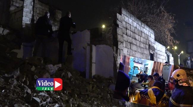 Metruk bina çöktü: 4 yaralı