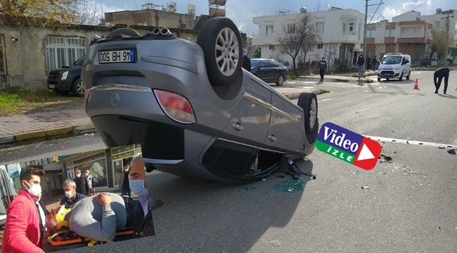 Otomobilin takla atma anı kameralarda