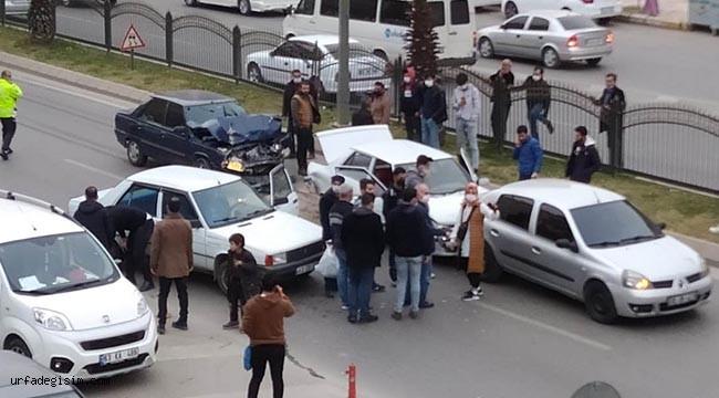 Urfa'da  zincirleme kaza: 5 yaralı