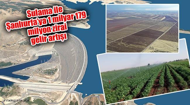 18 yılda Urfa'ya 3 baraj ve 4 gölet yapıldı