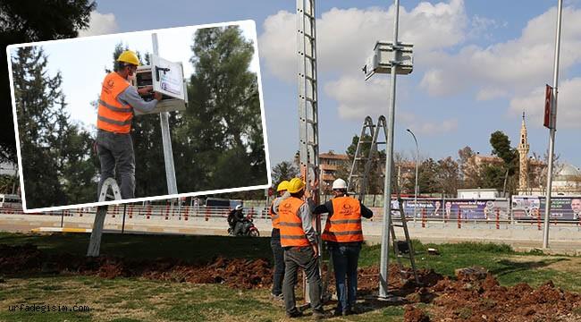 Haliliye'de park güvenliği sürüyor