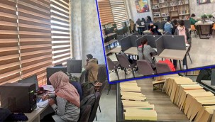 Millet kıraathanelerinde sınava hazırlanıyorlar