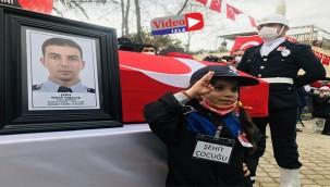 Urfa'da görevli polis son yolculuğuna uğurlandı