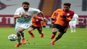 Galatasaray galibiyetlerini devam ettiremedi