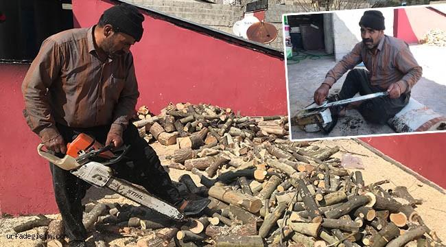 35 yıldır geçimini odun keserek sağlıyor