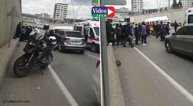 Karaköprü'de zincirleme trafik kazası: 1 ölü, 6 yaralı