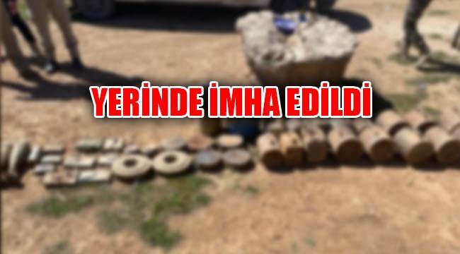Sınırda çok sayıda patlayıcı ele geçirildi