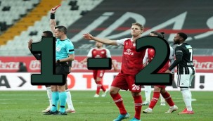 Beşiktaş evinde karagümrük'e mağlup