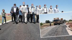 Eyyübiye'de asfalt çalışmaları sürüyor