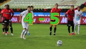 Gaziantep FK yenilgiye uğradı