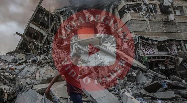 Gazzedeki yıkım görüntüleri