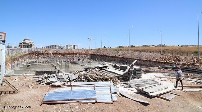 Haliliye'de kültür evi inşaatı devam ediyor