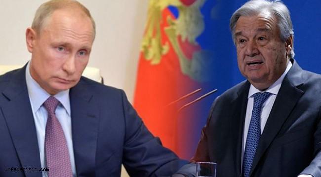 Putin ile Guterres, Filistin hakkında görüştü