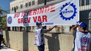 Fabrika işçileri greve başladı