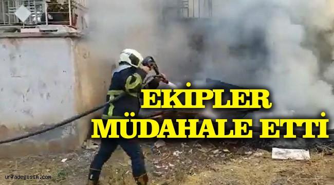 Haliliye'de yangın çıktı!