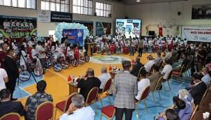Haliliye'den 100 öğrenciye bisiklet