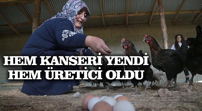 Kanser hastası kadın köye yerleşerek hayata tutundu!