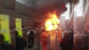 Londra'da tren istasyonunda yangın