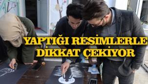 Suriyeli ressam Türkiye'de sanatını konuşturuyor