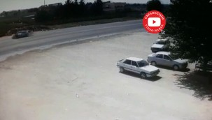 Feci kaza anı bir bir kameralara yansıdı