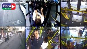 Fenalaşan vatandaşı şoför hastaneye yetiştirdi