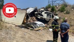 Kamyon otomobile çarptı: 1 ölü, 6 yaralı